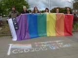 Hissen der Regenbogenfahne an der CAU Kiel, 26.05.2015